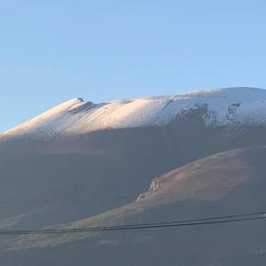 浅間山に雪♡