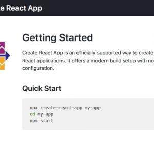 React アプリを Create React App で設置&設定する | CentOS 7.6