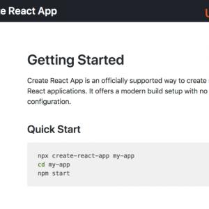 React アプリを Create React App で設置&設定する | Ubuntu 18.04.2