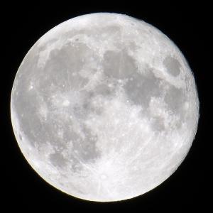 文月の満月は部分月食