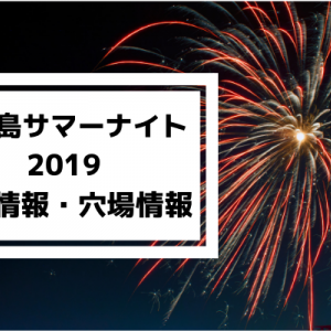 鹿児島サマーナイト大花火2019の混雑状況と穴場スポット、納涼船情報
