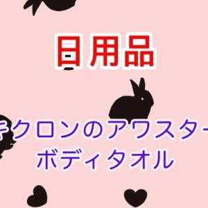 キクロンの《アワスター》ボディタオルがすごく泡立ちがよくてびっくり!