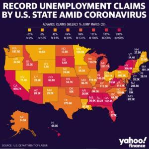 カリフォルニア外出禁止令 ~アメリカでの失業保険申請件数状況~