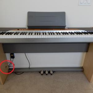 電子ピアノもらった!