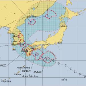 おっと、8号はブーメランか! 次々に台風が出来る予報らしい。。
