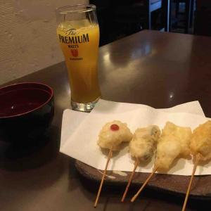 明石まちなかバル③ 魚菜酒蔵だいがく「明石昼網の串天ぷら」