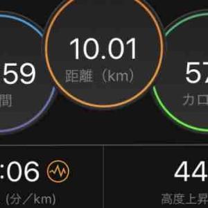 なにわ淀川マラソンの代わりに10kmランを敢行