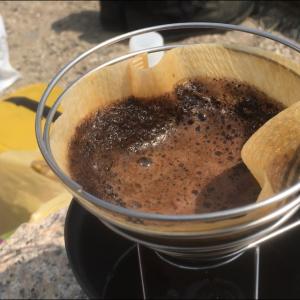 アウトドアで至福のコーヒータイム