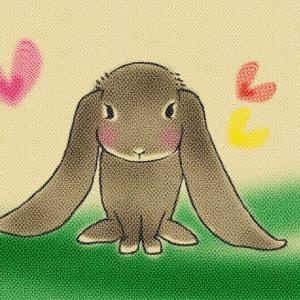 【うさぎ辞典】イングリッシュロップ|世界で一番長くて大きな耳を持つうさぎ 【色々なうさぎの品種をイラストで紹介】