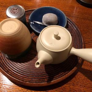 くき煎茶と亥の子餅/「嘉木」一保堂茶舗(京都府京都市)