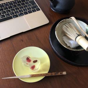 """茶の湯 抹茶オンラインレッスンの一コマ """"ひょうたん""""で、一服。"""