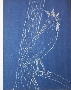 「 朱鷺 兆し 」 F3 日本画
