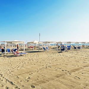 デザインされたイタリアのビーチ