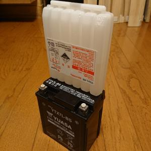VTR250 バッテリー交換