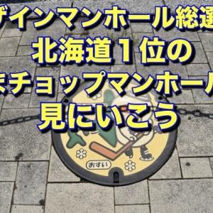 【散歩】デザインマンホール総選挙? 北海道第1位の『とまチョップマンホール』を探せ〓︎