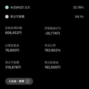 不労所得【トライオートFX】現況報告 2020-11-10 11月収支+7309円