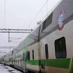フインランド 7 北極圏を走る列車 【  電化最北端駅 ロバニエミリ→ケミヤルヴィ 】