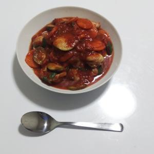 【手料理】夏野菜のトマト煮を作ってみた