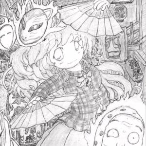 【東方】秦こころをシャーペンと鉛筆で描いてみた【手描きイラストメイキング】Touhou Pencil Drawing