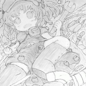 【東方】河城にとり をシャーペンと鉛筆で描いてみた【手描きイラストメイキング】Touhou Pencil Drawing