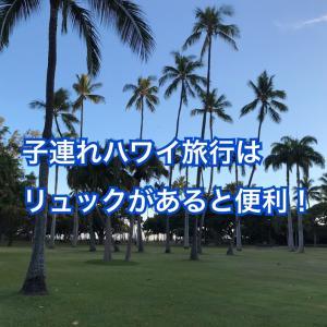 ハワイ子連れ旅行はリュックサックが必要!おすすめとシーンも紹介!