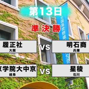【甲子園2019】第13日 8月20日(火)準決勝