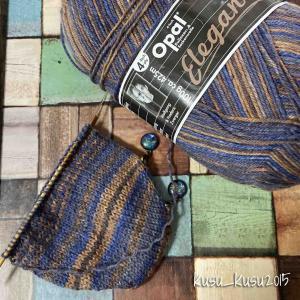 【編みかけ】5/100 メンズサイズの靴下を編みたい!ちょっと失敗話プラス( ̄▽ ̄;)