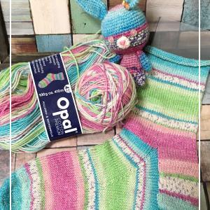 【編みかけ】1/100 履き口から編む靴下