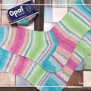 【編み物】1/100 履き口から編む靴下