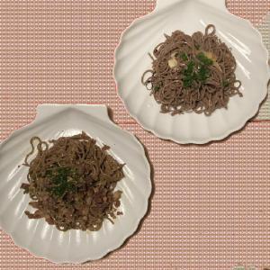 蕎麦カルボナーラ そしてペペロンチーノ