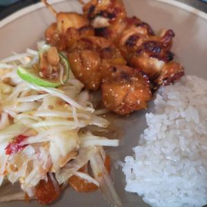 最近のタイ飯 Recent Thai food 屋台飯やコンビニで買って来ます