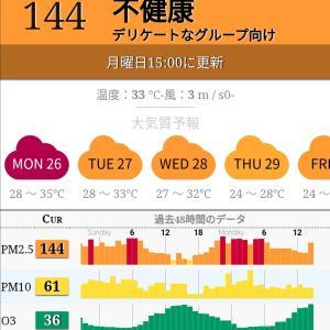 乾季に入った途端 空気汚染が〜😵