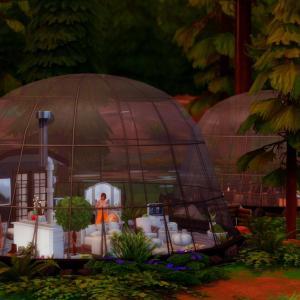 【シムズ4】Glass dome cottage【建築紹介】
