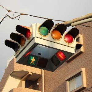 仙台市の懸垂式信号機
