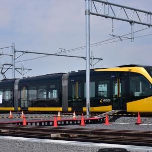芳賀・宇都宮LRT(ライトライン)工事現況(2021年6月)