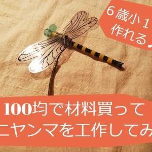 【工作】100均の材料でオニヤンマを作ろう♪【夏休み自由研究にも】