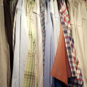 ダンナのシャツを断捨離! clearing out husband's shirts