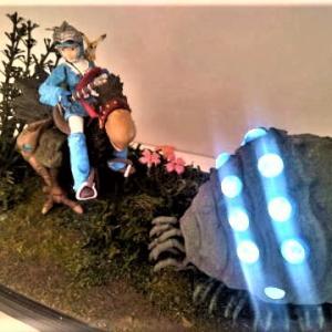 ☆ 風の谷のナウシカ 王蟲赤目&青目LEDジオラマ作品出品しました...。