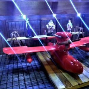☆ 紅の豚 ファイン・モールド~1/48 サボイアS21F ピッコロ社工場LEDジオラマ完成