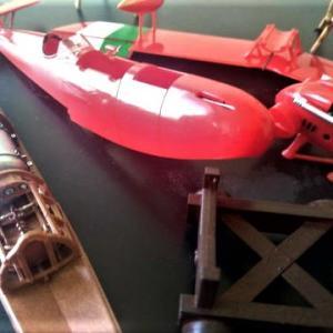 ☆ 紅の豚 1/48 サボイアS21&ピッコロ社LED工場ジオラマ制作#3