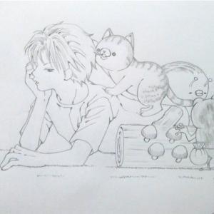 猫、髪を食う