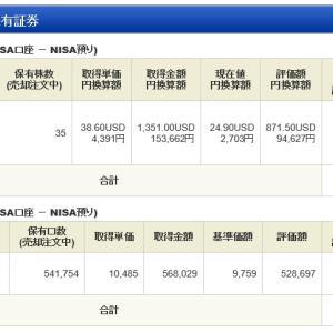 ジュニア NISA - 20 Week 13 (103 週目 : -9.8 万円)x 2