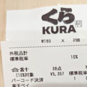 【くら寿司】家族5人でかかった金額