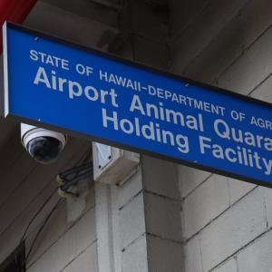 ホノルル空港の動物検疫所