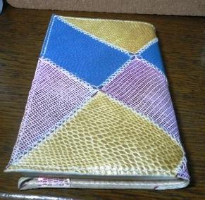 革製ブックカバーをパッチワークで作る方法 ~型紙付き~