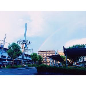 時間をはずした日にかかる虹