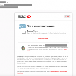 HSBC // SecureMail初期登録後のログイン方法