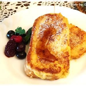 【グルテンフリー】米粉パンでフレンチトースト♪