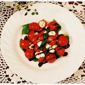 ベランダ菜園☆収穫したトマトでカプレーゼ♪