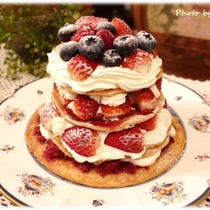 パンケーキでつくるオールドファッション風ケーキ